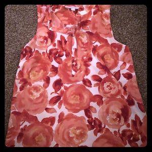 Loft size M sleeveless floral print top